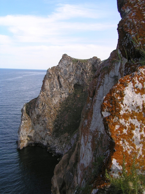 The marble cliffs of Olkhon on Lake Bailkal