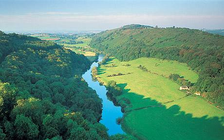 The Wye River valley